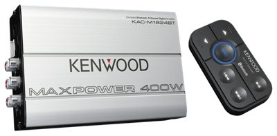 Kenwood Compact Bluetooth 4 Channel Digital Amplifier With Remote Control Silver/black