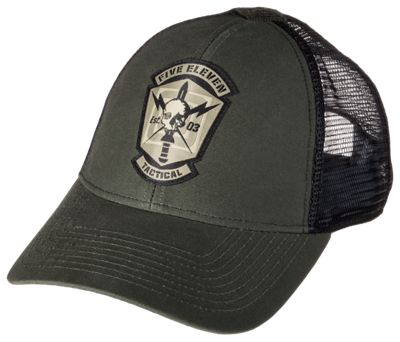511 Tactical Skull Meshback Cap for Men FatigueSwamp