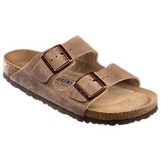 Birkenstock Arizona Soft Footbed Leather Sandals for Ladies