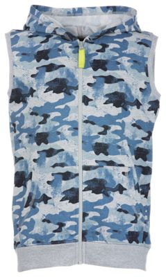 Bass Pro Shops Full-Zip Hooded Camo Vest for Toddlers or Boys - Blue - 6-7 thumbnail