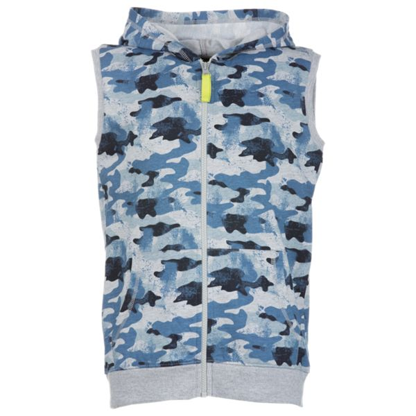 Bass Pro Shops Full-Zip Hooded Camo Vest for Toddlers or Boys - Blue - 10 thumbnail