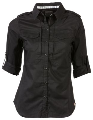 511 Tactical Spitfire Shooting Long Sleeve Button Down Shirt for Ladies Black M