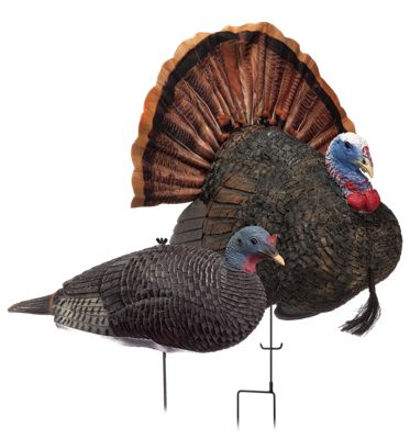 RedHead Reality Series Remote Crazy Jake and Mating Hen Turkey Decoy Combo