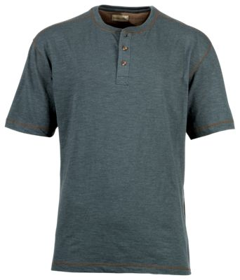 bd89eef2e Hobbs Creek Shadow Rock Henley for Men Storm Blue M