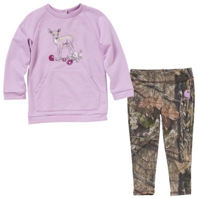 Carhartt Camo 2 Piece Leggings Set for Babies Mossy Oak Break Up Country 12 Months