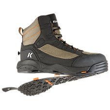 Korkers Greenback Wading Boots for Men - Kling-On/Studded Kling-On