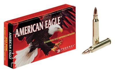 Federal Premium American Eagle Tactical Centerfire Rifle Ammo – .223 Remington – 20 rounds