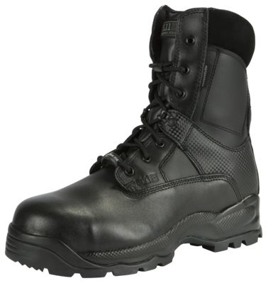 511 Tactical ATAC Shield Side Zip Safety Toe Tactical Boots for Men Black 5M
