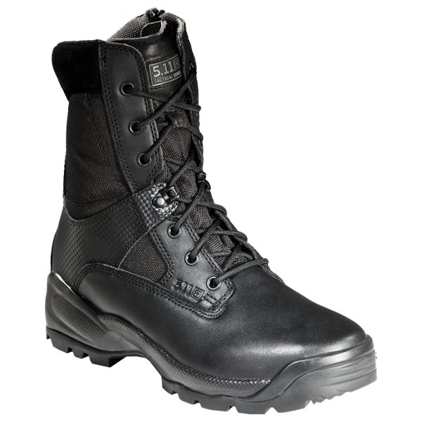5.11 Tactical A.T.A.C. 8' Side Zip Tactical Boots for Men - Black - 8M thumbnail