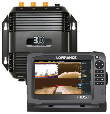 Lowrance HDS-7 Gen3 Insight USA Fishfinder/Chartplotter with StructureScan 3D Transducer and Module Bundle
