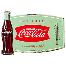 Open Road Brands Coca Cola Thermometer Tin Sign