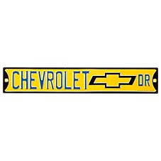 Open Road Brands Chevrolet Drive Embossed Die-Cut Tin Sign