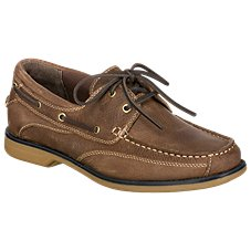 be5c249753 World Wide Sportsman Anchor II Boat Shoes for Men. Dark Brown