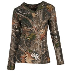 SHE Outdoor HPC V-Neck Long-Sleeve Shirt