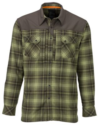 511 Tactical Sidewinder Flannel Shirts for Men Mosstone L