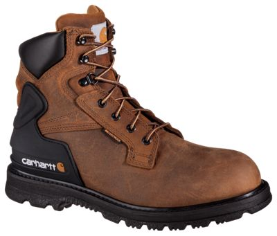 75291ab5d36 Carhartt Core 6 Waterproof Steel Toe Work Boots for Men BisonBrown 13W