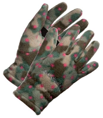 Columbia Fast Trek Gloves for Kids - Punch Pink Camo Dot - M thumbnail