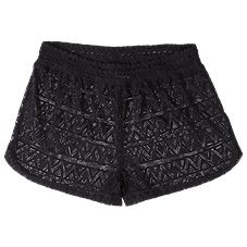 Big Strike Free 2 Luv Crochet Shorts Cover-Up for Ladies