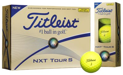 Titleist NXT Tour S Golf Balls 2016 - Yellow 12 pack