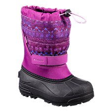 Columbia Powderbug Plus II Print Waterproof Pac Boots for Kids
