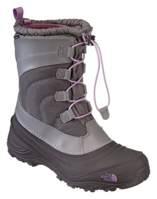 6c314714e The North Face Alpenglow IV Waterproof Pac Boots for Kids - Quick  Silver/Lupine - 2 Kids