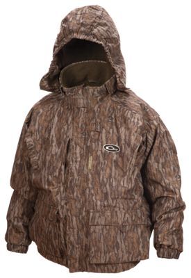 Drake Waterfowl Systems Lst 3 In 1+2 Wader Coat For Youth Mossy Oak Bottomland 12
