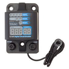 TRAC Outdoor 12V Digital Circuit Breakers with Display