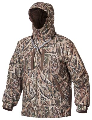 Drake Waterfowl Systems EST Heat-Escape Waterproof Full-Zip 2.0 Hooded Jacket for Men – Mossy Oak Shadow Grass Blades – L
