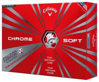 Callaway Chrome Soft Truvis Golf Balls 2016 (White/Red) 12pk Ball NEW