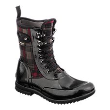 BOGS Sidney Lace Plaid Waterproof Rubber Boots for Ladies