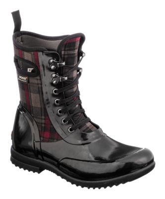 b335e3345835 BOGS Sidney Lace Plaid Waterproof Rubber Boots for Ladies