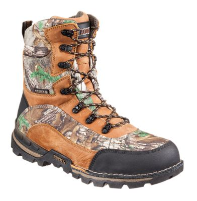 ROCKY Athletic Mobility Insulated Waterproof Hunting Boots for Men – Brown/Realtree Xtra – 10 M