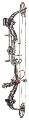 BlackOut S3 Compound Bow Package - Black/Carbon Fiber - 50-60 lb. Draw Weight - Right Hand