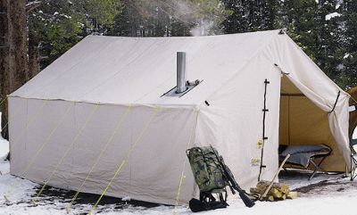 Cabela's Outfitter Wall Tents by Montana Canvas Without Frame – 12′ x 17′ – White
