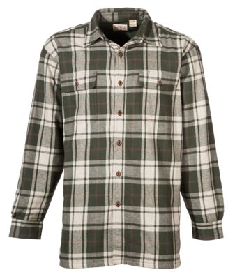 56c6c58cbd9 RedHead Fleece Lined Flannel Plaid Shirt for Men PineKhaki Heather L