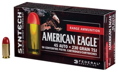 Federal American Eagle Syntech Handgun Ammo – 50 Rounds – 230 Grain