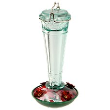 WoodLink Torchiere Glass Hummingbird Feeder