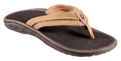 ?OluKai Hokua Thong Sandals for Men Tan/Tan 13 M