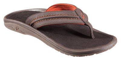 ?OluKai Hokua Thong Sandals for Men Dark Java/Dark Java 8 M