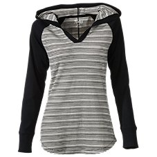 Natural Reflections Striped Raglan Hoodie for Ladies