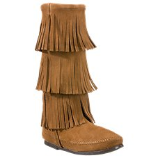 Minnetonka Moccasin 3-Layer Fringe Boots for Ladies