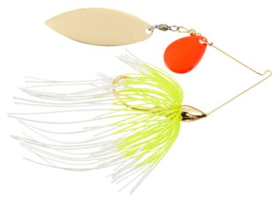 War Eagle Tandem Willow Spinnerbaits – 1/2 oz. – White Chartreuse Orange