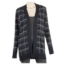 Natural Reflections Plaid Cardigan Sweater for Ladies