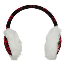 Natural Reflections Fair Isle Faux Fur Earmuffs for Ladies
