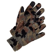 Grand Sierra Camo Polar Fleece Gloves for Kids