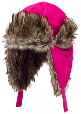 Grand Sierra Faux Fur Bomber Hat for Toddlers - Pink
