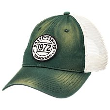 Bass Pro Shops Twill Mesh Old School Patch Cap. Navy  Green b7bf213025ba