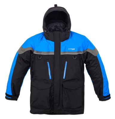 IceArmor by Clam Extreme Parka for Men - Black/Blue/Gray - 2XL