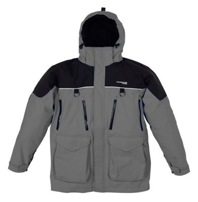 IceArmor by Clam Edge Parka for Men - Charcoal/Black - S