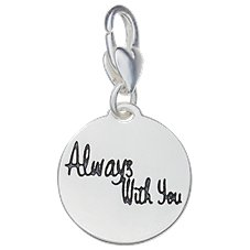 Amanda Blu Heartfelt Emotions Footprints Never Alone Clip-On Medallion